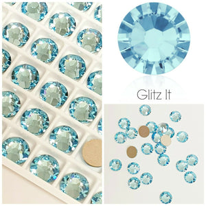 Swarovski® 2058 Small Pack Glue On Crystals: SS5 AQUAMARINE - Glitz It