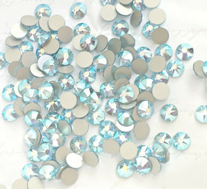 Swarovski® 2058 Small Pack Glue On Crystals: SS5 AQUAMARINE AB - Glitz It