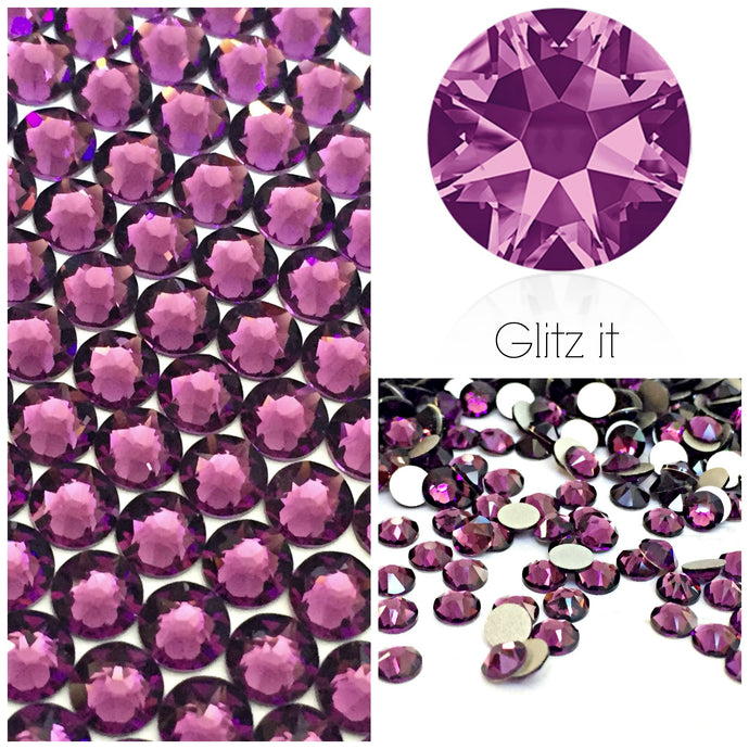 Swarovski Amethyst Crystals Glue On Flatbacks - Glitz It