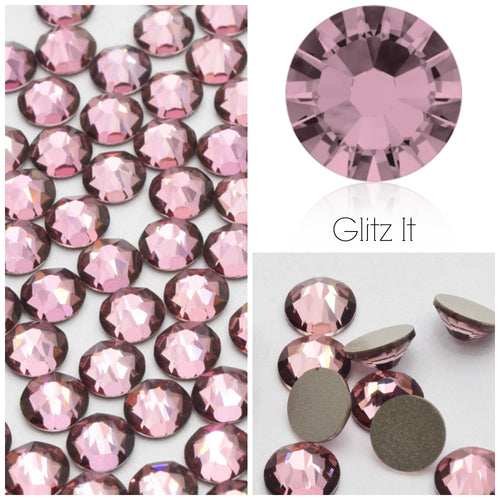 Swarovski Antique Pink Crystals Glue On Flatbacks - Glitz It