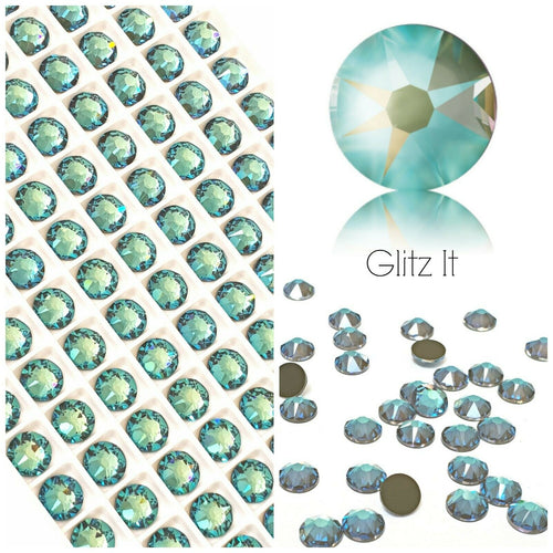 Swarovski Army Green DeLite UNFOILED Crystals Glue On Flatbacks