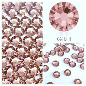 Swarovski® 2058 Small Pack Glue On Crystals: SS5 BLUSH ROSE