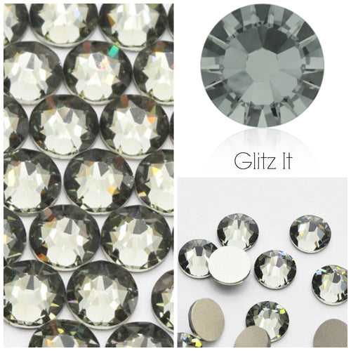 Swarovski® 2058 Small Pack Glue On Crystals: SS5 BLACK DIAMOND - Glitz It
