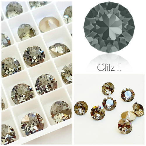 Swarovski Black Diamond Chaton Crystals - Glitz It