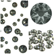 Swarovski Black Diamond (Grey) Crystals Glue On Flatbacks - Glitz It
