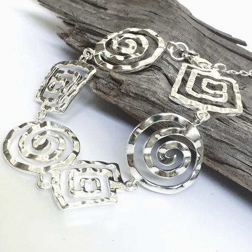 Sterling Silver 925 and Silver Plated Boho Bracelet
