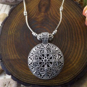 Silver Disc Boho Necklace