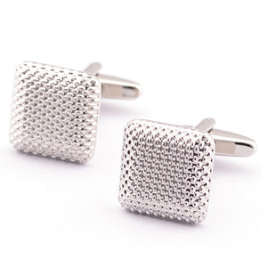 French Textured Square Cuff Links