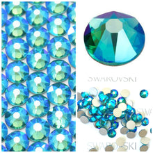 Swarovski Blue Zircon Shimmer Crystals Mixed Size Glue On Flatbacks Small to Medium - Glitz It