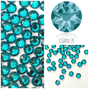 Swarovski® 2058 Small Pack Glue On Crystals: SS5 BLUE ZIRCON - Glitz It