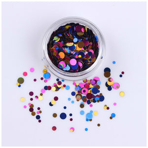 Born Pretty Pink Colourful Sequins for Nail Art - Glitz It