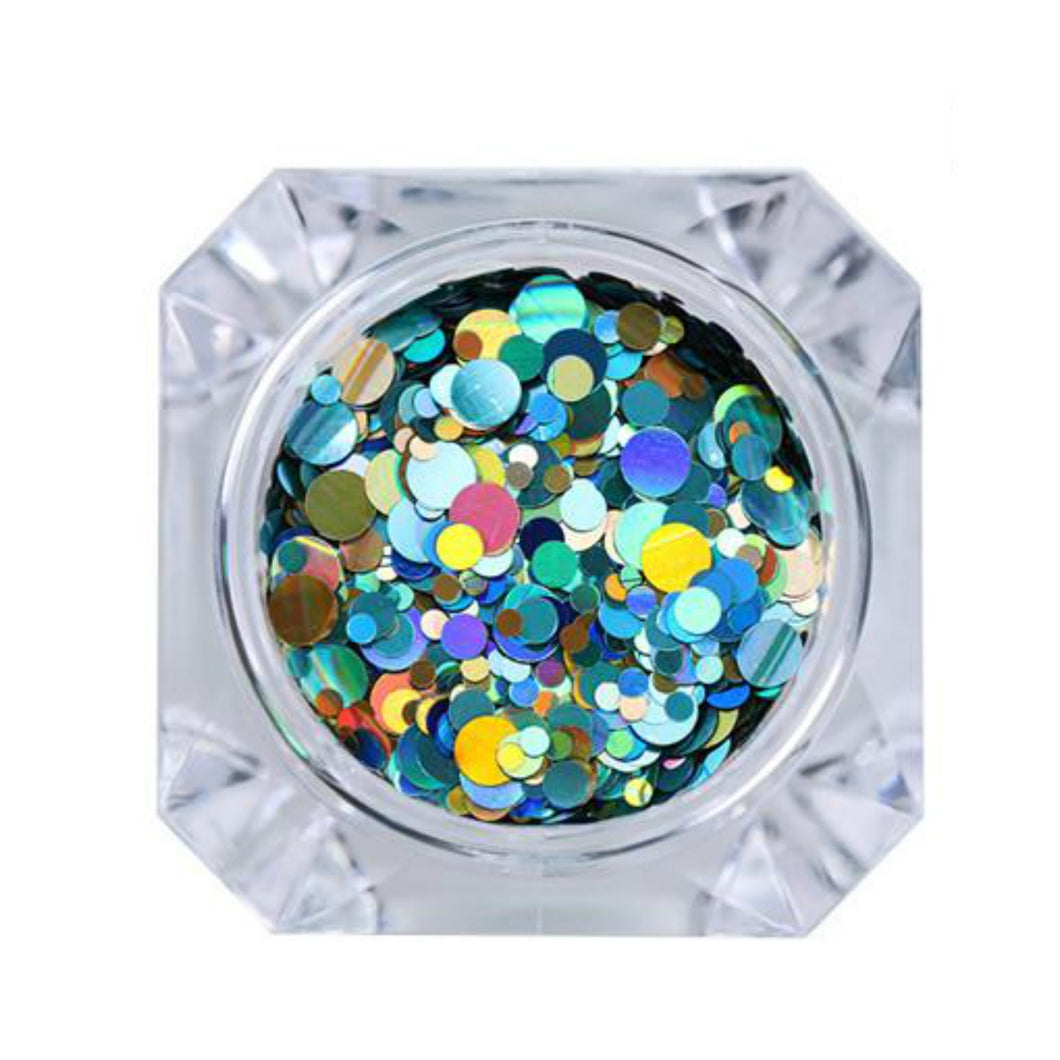 Born Pretty Turquoise Colourful Blend of  Sequins for Nail Art - Glitz It