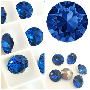 Swarovski Capri Blue Chaton Crystals - Glitz It