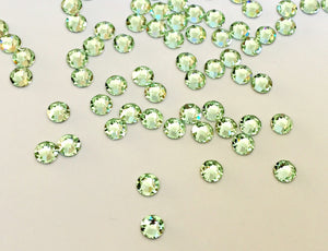 Swarovski Chrysolite Green Crystals Glue On Flatbacks - Glitz It