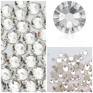 Swarovski Clear Crystals Glue On Flatbacks - Glitz It