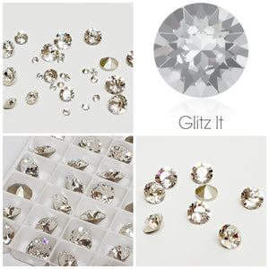 Swarovski CLEAR Chaton Crystals - Glitz It