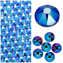 Swarovski Cobalt Shimmer Crystals Glue On Flatbacks - Glitz It