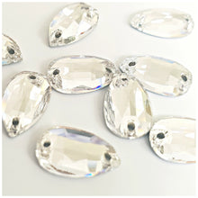 Stellux™ Sew On Flatbacks: Clear Drop - Glitz It