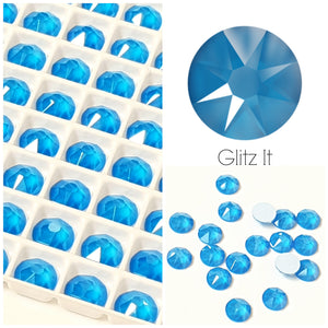 Swarovski Hotfix Flatbacks: Electric Blue - Glitz It