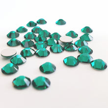 Preciosa®️ Mixed Size / Small to Medium Glue On Crystals: Emerald