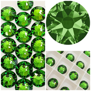 Swarovski® 2058 Small Pack Glue On Crystals: SS5 FERN GREEN - Glitz It