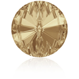 Swarovski® Crystal Buttons - Golden Shadow, Rivoli Article 3015 - Glitz It