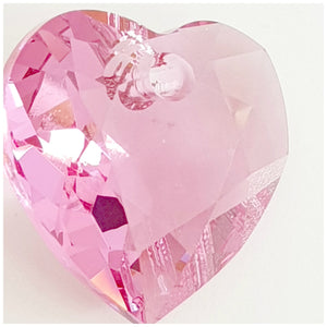 Swarovski Heart Cut Pendant 6432: Rose - Glitz It