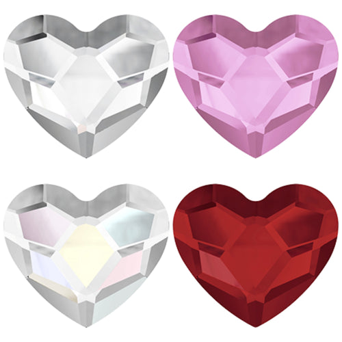 Swarovski Love Heart Crystals Glue On Flatbacks - Glitz It