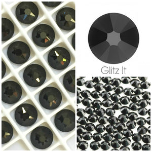 Swarovski® 2058 Small Pack Glue On Crystals: SS5 JET - Glitz It