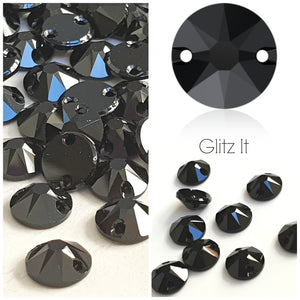 Swarovski® Sew On Crystals: Xirius 3288 Jet - Glitz It