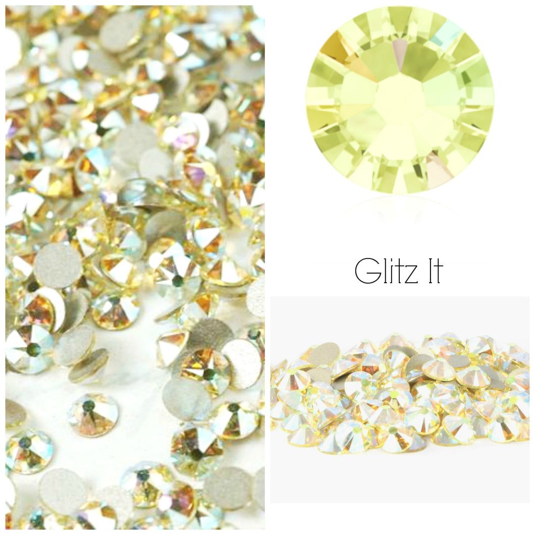 Swarovski® 2058 Small Pack Glue On Crystals: SS5 JONQUIL AB - Glitz It