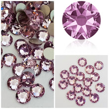 Swarovski Light Amethyst Crystals Mixed Size Glue On Flatbacks Small to Medium