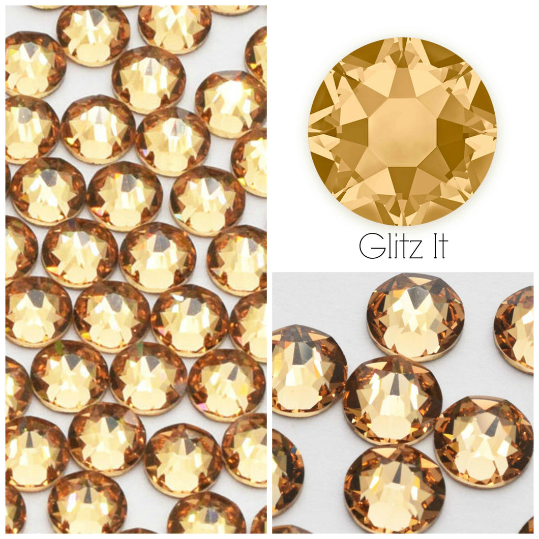 Swarovski® 2058 Small Pack Glue On Crystals: SS5 LIGHT COLORADO TOPAZ - Glitz It