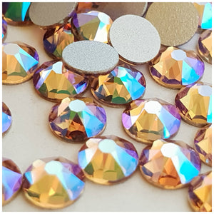 Swarovski Light Colorado Topaz Shimmer Crystals Glue On Flatbacks - Glitz It