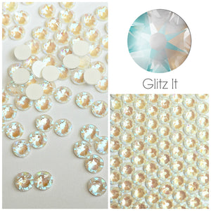 Swarovski Light Grey DeLite UNFOILED Crystals Glue On Flatbacks - Glitz It