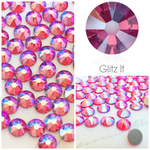 Swarovski Light Siam Shimmer Crystals Glue On Flatbacks - Glitz It