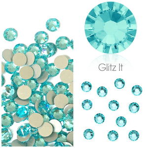 Swarovski® 2058 Small Pack Glue On Crystals: SS5 LIGHT TURQUOISE - Glitz It