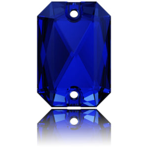 Swarovski® Sew On Crystals: Emerald Cut 3252 Majestic Blue - Glitz It