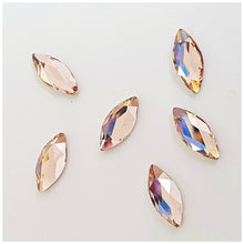 Swarovski 2201 Marquise 8mm Crystals Glue On Flatbacks