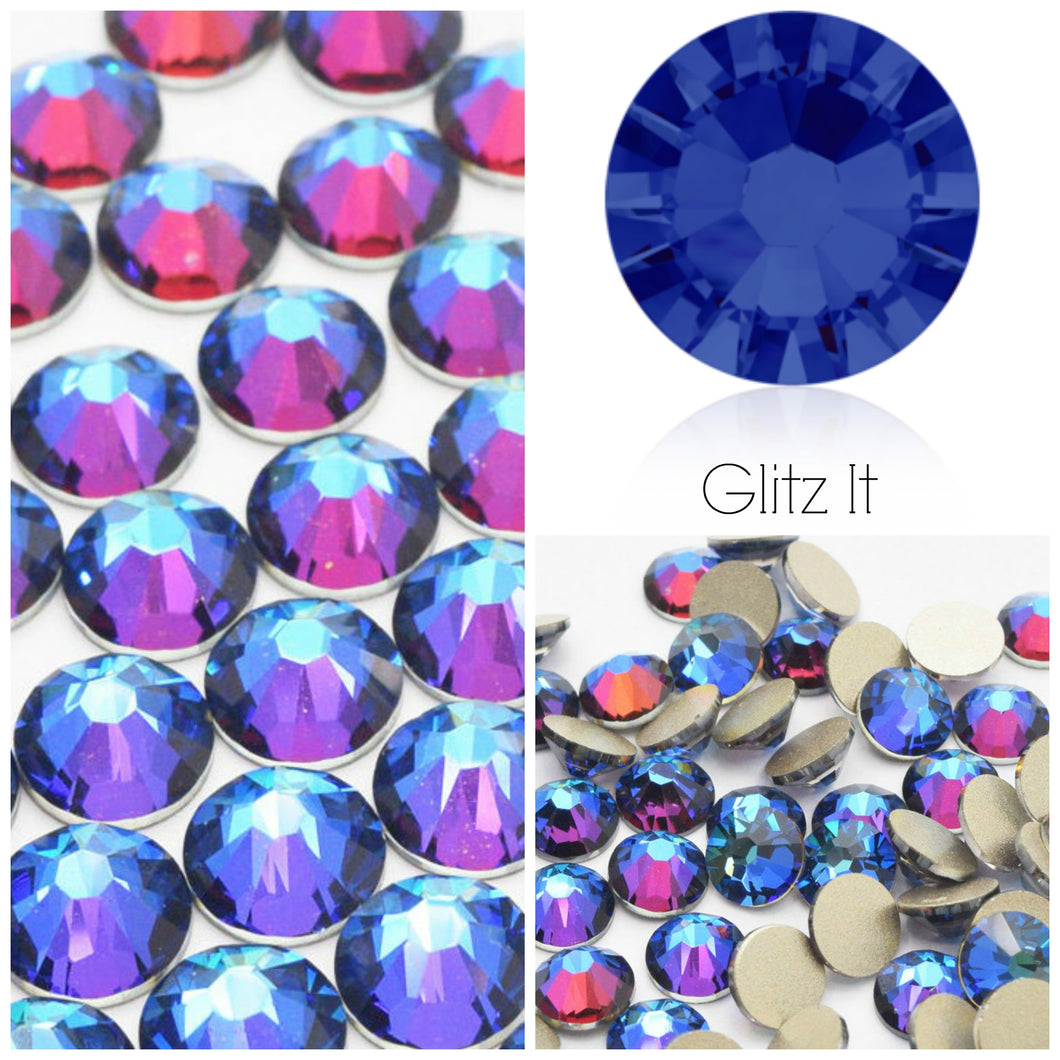 Swarovski® 2058 Small Pack Glue On Crystals: SS5 MERIDIAN BLUE - Glitz It