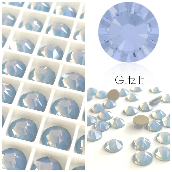 Swarovski Air Blue Opal Crystals Glue On Flatbacks - Glitz It