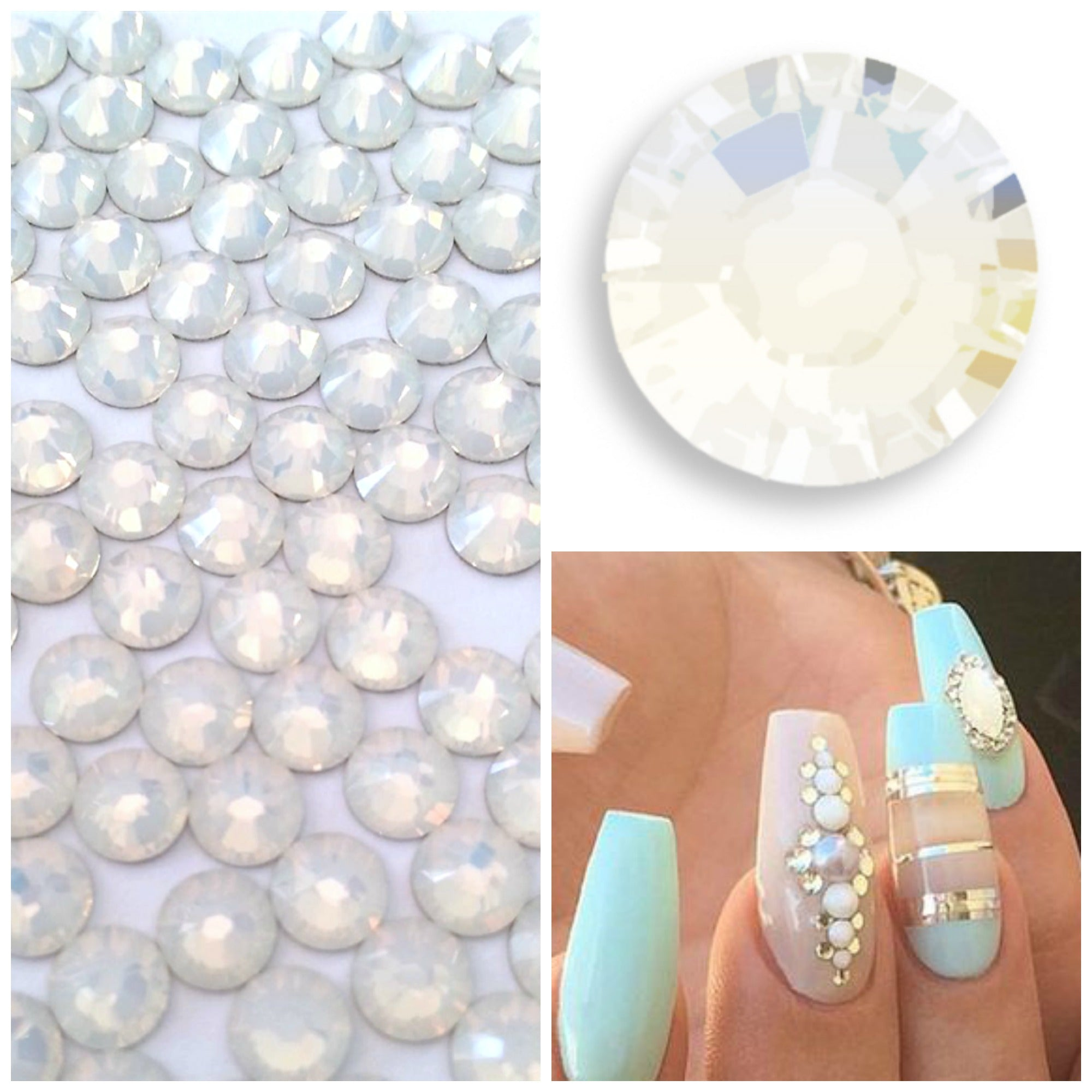 0e26bd762 ... Swarovski Opal Crystals Mixed Size Glue On Flatbacks Small to Medium -  Glitz It ...