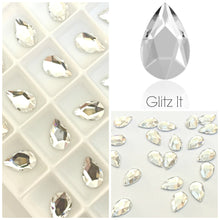 Swarovski 2303 Pear Crystals Glue On Flatbacks - Glitz It
