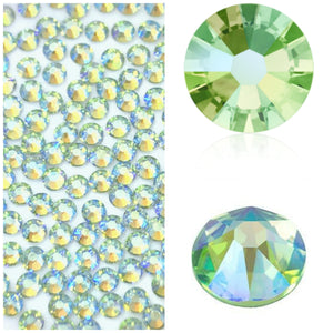 Swarovski® 2058 Small Pack Glue On Crystals: SS5 PERIDOT SHIMMER - Glitz It