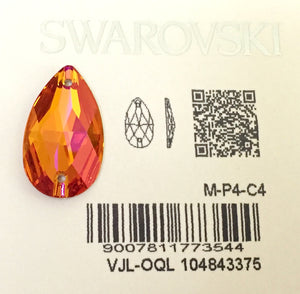 Swarovski® Sew On Crystals: Pear Drop 3230 Astral Pink - Glitz It