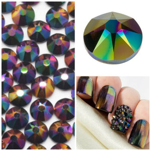 Swarovski Rainbow Dark Crystals Mixed Size Glue On Flatbacks Small to Medium - Glitz It