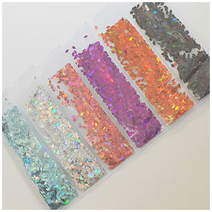 6 Grid Bag Sequins for Nail Art: Rhombus Party