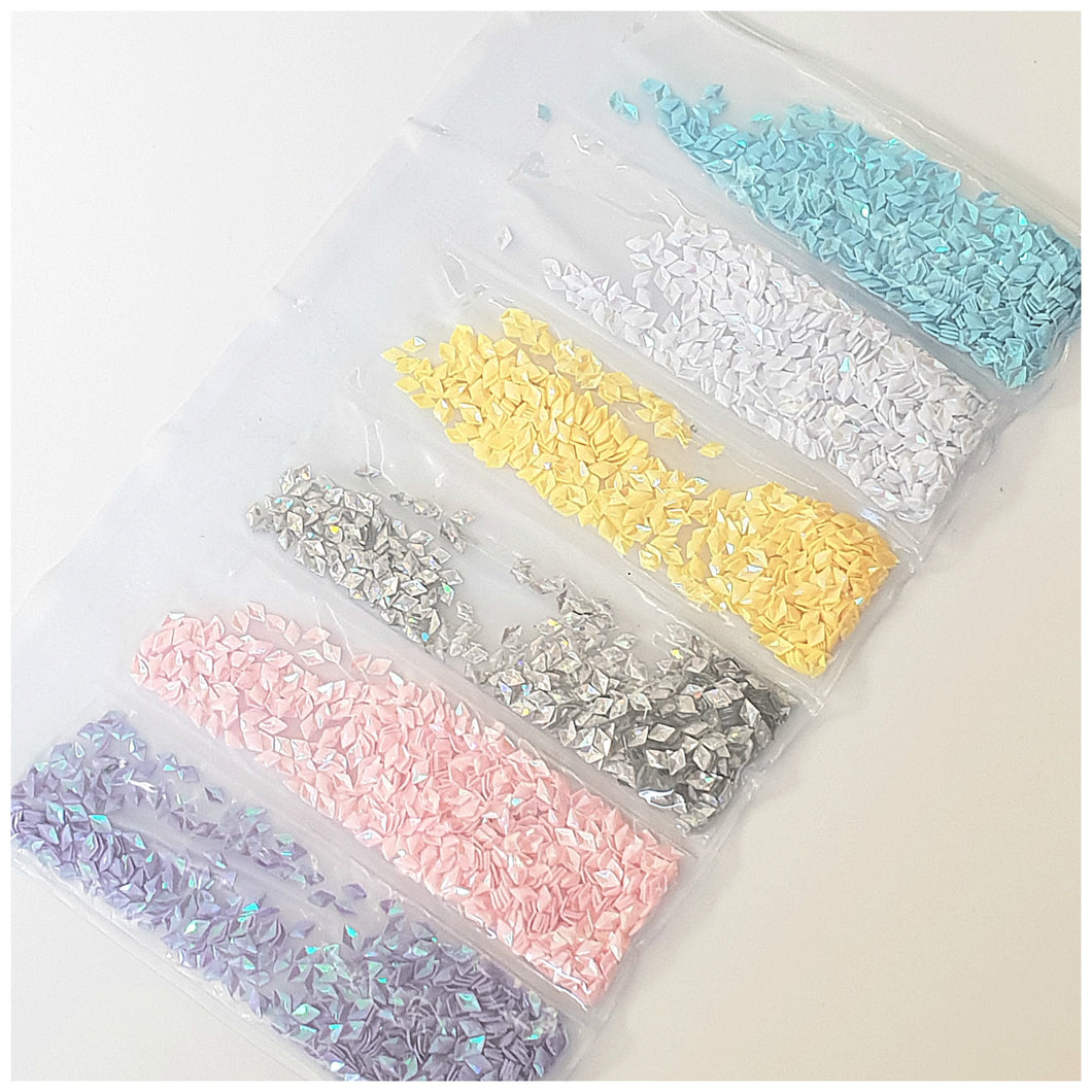 6 Grid Bag Sequins for Nail Art: Rhombus Unicorn