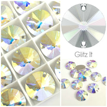 Swarovski® Sew On Crystals: Rivoli 3200 AB - Glitz It