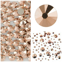 Swarovski Rose Gold Crystals Mixed Size Glue On Flatbacks Small to Medium - Glitz It